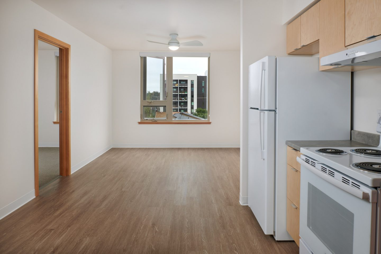 Kitchen And Living Room In Apartment