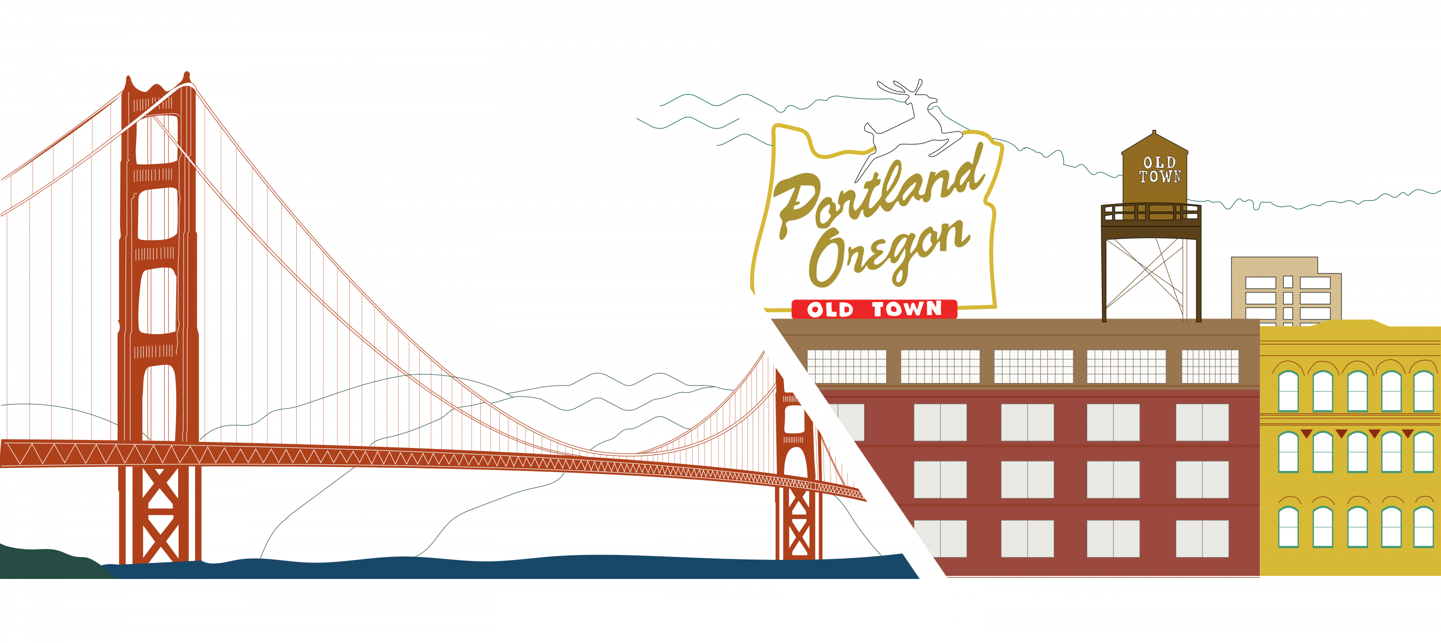 Graphic Of San Francisco And Portland