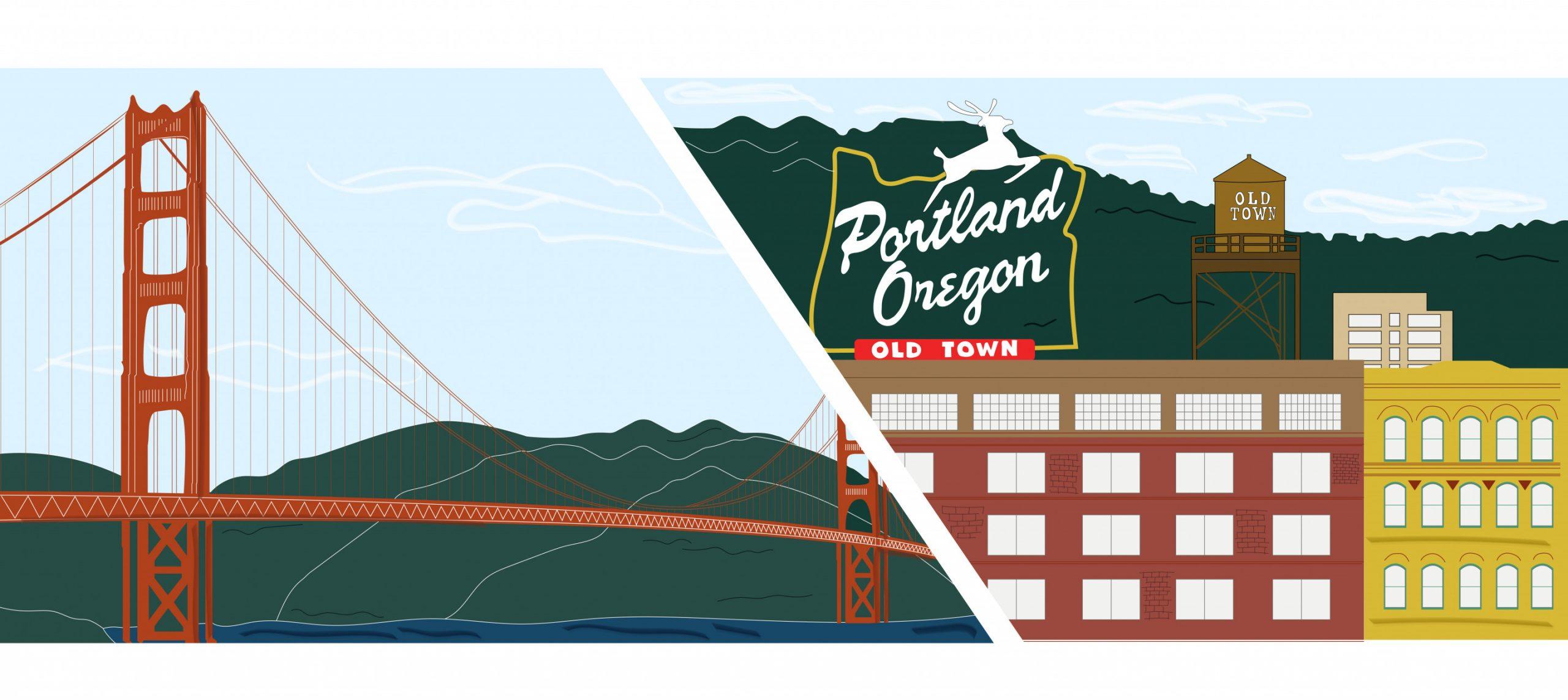 San Francisco And Portland
